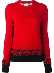 свитер с принтом  Comme Des Garçons