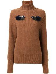 декорированный свитер с отворотной горловиной Muveil