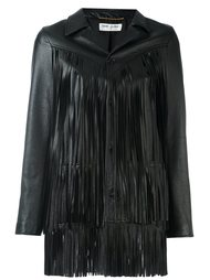 куртка с бахромой Saint Laurent