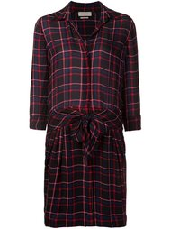 checked belted shirt dress L'agence