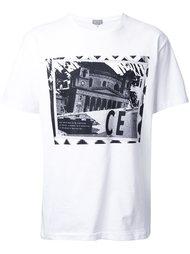 футболка с принтом здания  C.E.