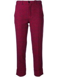 укороченные брюки с мелким узором Julien David