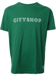 футболка с принтом-логотипом Cityshop