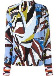 блузка с вырезом под горло Emilio Pucci