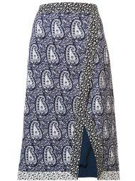 юбка с разрезом и узором пейсли Altuzarra