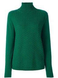 пуловер с высокой горловиной в рубчик Malo