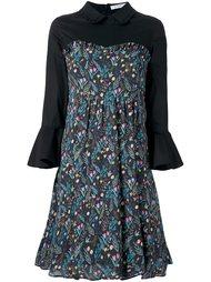 расклешенное платье с цветочным узором Vivetta