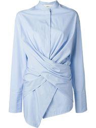 полосатая рубашка с запахом Ports 1961