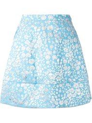 юбка А-силуэта с цветочным принтом Delpozo