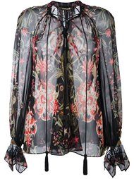 блузка с цветочным узором Roberto Cavalli