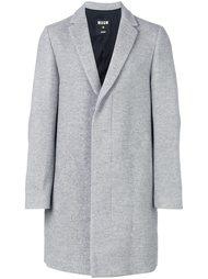пальто с заостренными лацканами MSGM