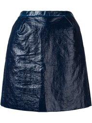 приталенная юбка с эффектом помятости Delpozo