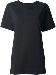 футболка с вышивкой на спине Ann Demeulemeester Blanche