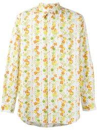рубашка с цветочным узором Comme Des Garçons Vintage