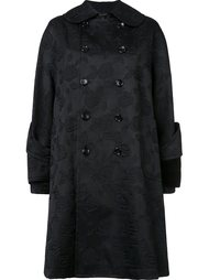 jacquard double-breasted coat Comme Des Garçons