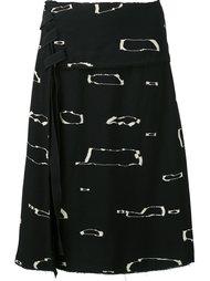 юбка А-силуэта с абстрактным принтом Proenza Schouler