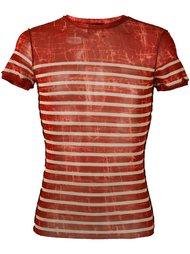 футболка в прозрачную полоску Jean Paul Gaultier Vintage