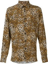 рубашка 'Paris' с леопардовым принтом  Saint Laurent