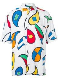 рубашка с геометрическим принтом Jc De Castelbajac Vintage