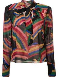 geometric print sheer blouse Alice+Olivia