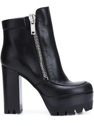 platform sole chunky heel boots Mulberry