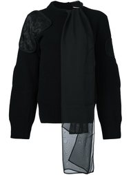 свитер с завязкой Sacai