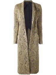 жаккардовое однобортное пальто  Erika Cavallini