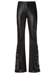 leather flared trousers Martha Medeiros