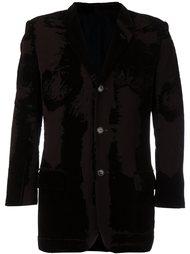 бархатный пиджак с выгоревшим эффектом Jean Paul Gaultier Vintage