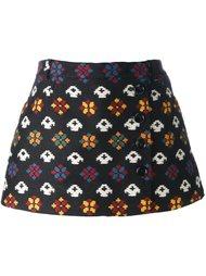 юбка-шорты с геометрическим принтом Red Valentino