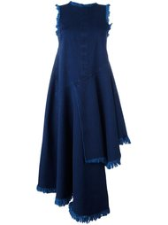 асимметричное платье без рукавов с бахромой Marques'almeida