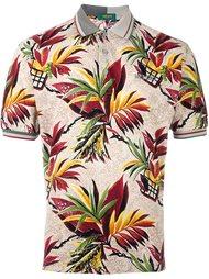 рубашка-поло с тропическим узором Kenzo Vintage