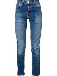 джинсы кроя скинни с потертой отделкой Re/Done