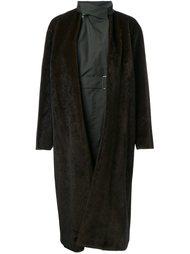 многослойное пальто с поясом Toga