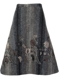 пышная юбка с цветочной вышивкой Co
