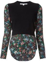 блузка комбинированного кроя  'Mellow'  Veronica Beard
