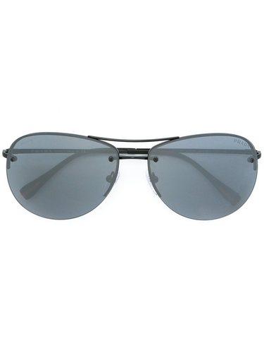 солнцезащитные очки в круглой оправе Prada Linea Rossa