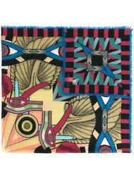 шарф с абстрактным принтом Givenchy