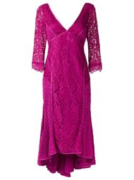 v-neck lace dress Martha Medeiros