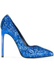 декорированные туфли  Saint Laurent
