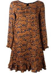 платье А-силуэта с растительным принтом Odeeh