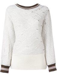свитер с контрастной окантовкой  Aviù