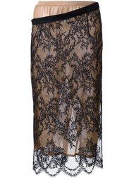 кружевная юбка-карандаш Erika Cavallini
