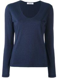 блузка с V-образным вырезом и длинными рукавами Allude