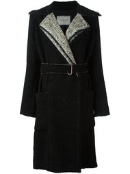 пальто с поясом Lanvin