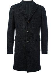 однобортное твидовое пальто Tagliatore