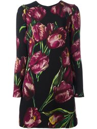 платье с принтом тюльпанов Dolce & Gabbana