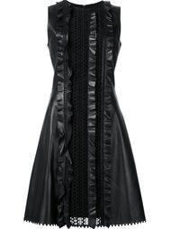 платье с оборками и кружевными панелями Carolina Herrera