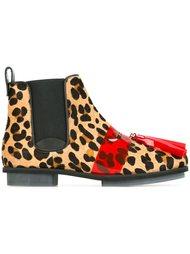 ботинки с леопардовым принтом  House Of Holland