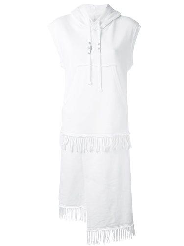 платье с капюшоном и бахромой Damir Doma